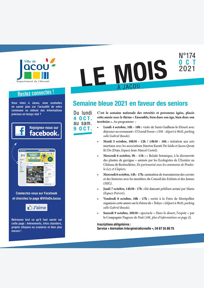 Le Mois à Jacou – Septembre 2021